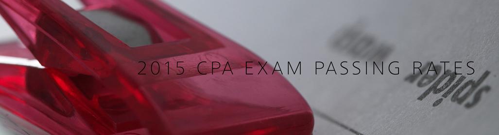 2015 CPA Exam Passing Rates